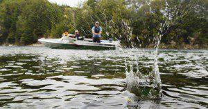 Jet boat fishing
